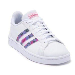 Adidas Women's Grand Court Sneakers EG0536 White/Globlue/Reapnk Size 9.5